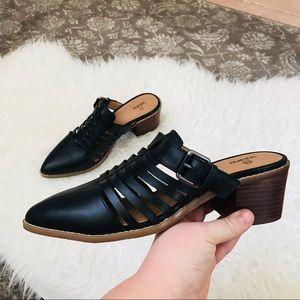 Susina black slip on mules size 9 nwot
